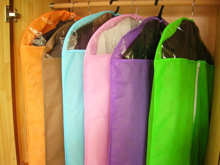 1 db Porszívó szőtt ruhák, porzsákok, átlátszó ruházati por - Szervezés és tárolás
