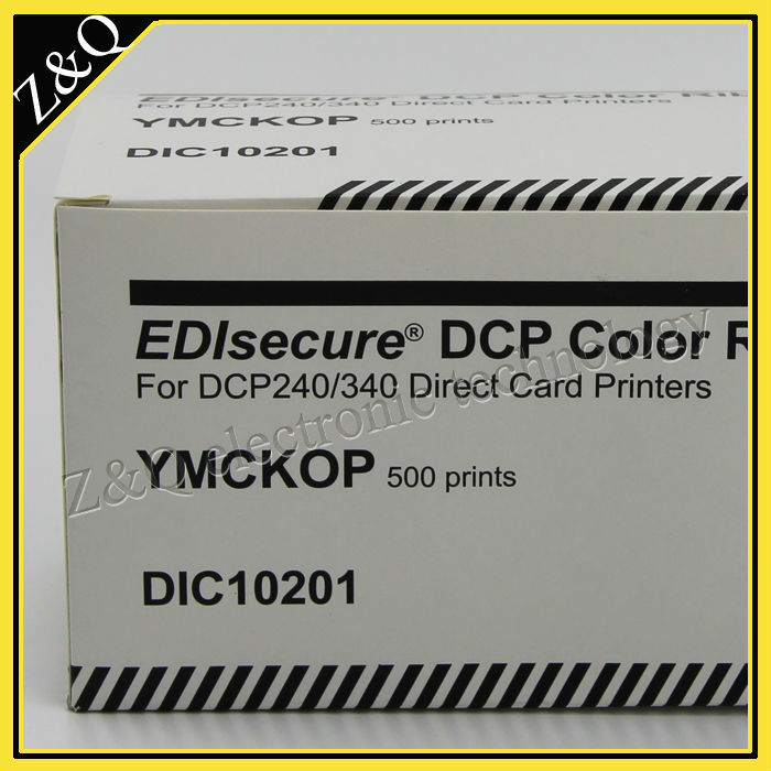 EDIsecure DIC10201 YMCKOP color ribbon for DCP24+ and DCP340+ printers refillable color ink jet cartridge for brother printers dcp j125 mfc j265w 100ml
