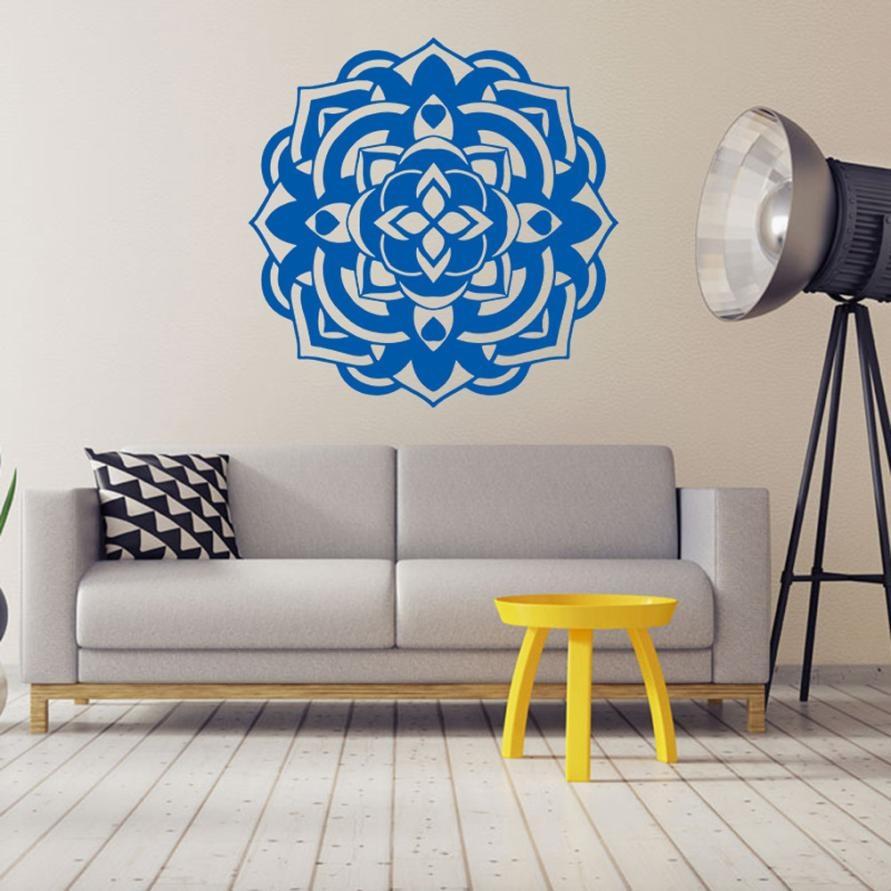 Wandaufkleber Mandala Blumen Indischen Schlafzimmer Wohnzimmer ...