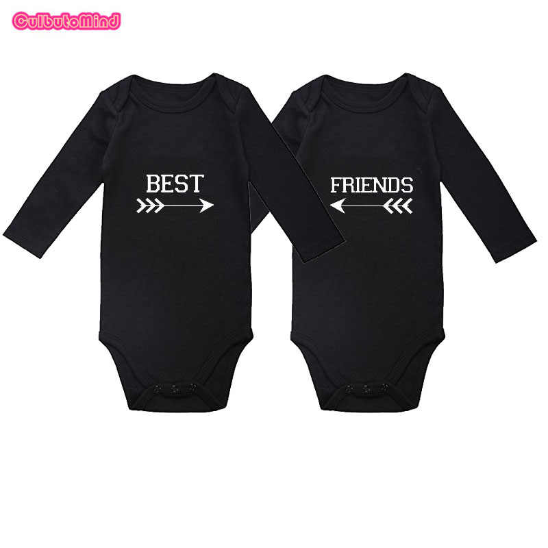 314a0cd7d2f Cutbutomind Set of 2 Twin Best Friend Outfit Boy Jumpsuit for Twin Boys  Girls NB-