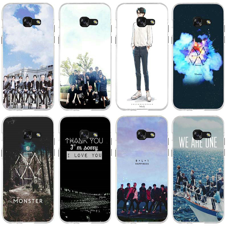 Soft TPU Transparent Phone <font><b>Cases</b></font> For <font><b>Samsung</b></font> Galaxy J1 J2 J3 J4 J6 J5 <font><b>J7</b></font> J8 A3 A5 A7 2016 <font><b>2017</b></font> 2018 Shell EXO Band K-pop kpop image