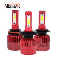 S5 Auto Car H4 H7 H11 LED Headlights 2X36W 6500K 8000LM 12V COB Bulbs Hi Lo