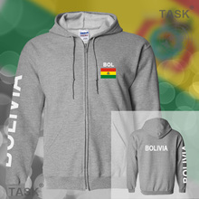 Bolivia Bolivian mens hoodies and sweatshirt casual polo sweat suit streetwear tracksuit nations fleece zipper BOL BO 2017 new