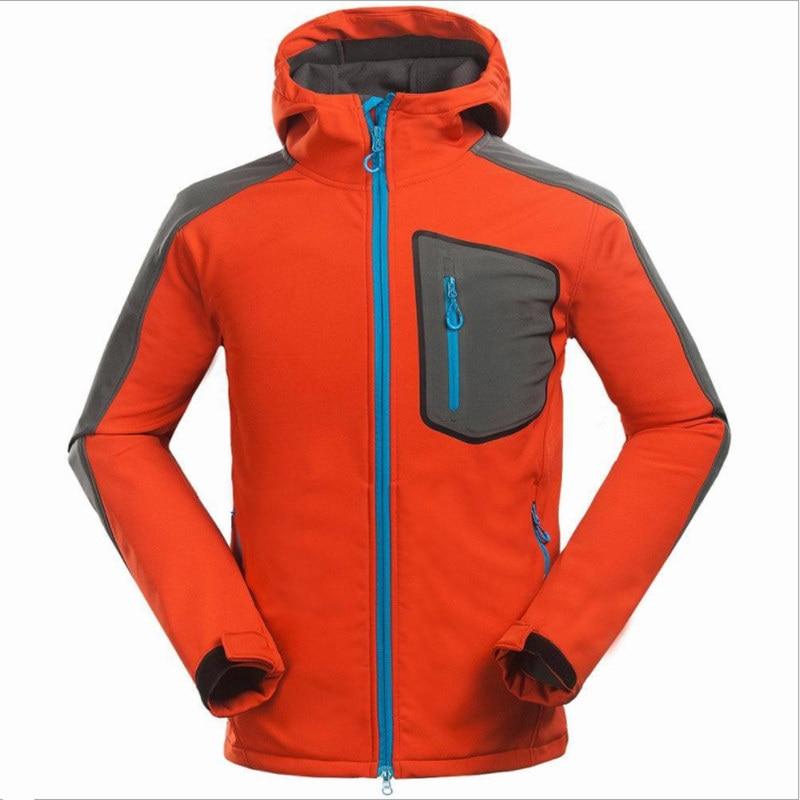 Men s Hiking Waterproof Softshell Jacket Windbreaker Breathable Fleece Warm Rain Coat Fishing Windstopper Outdoor Camping