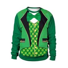 f5b96d73 New Hoodies Sweatshirts Men Women for St Patricks Day Green Shamrock  Cosplay 3D Print Hoodie Coat