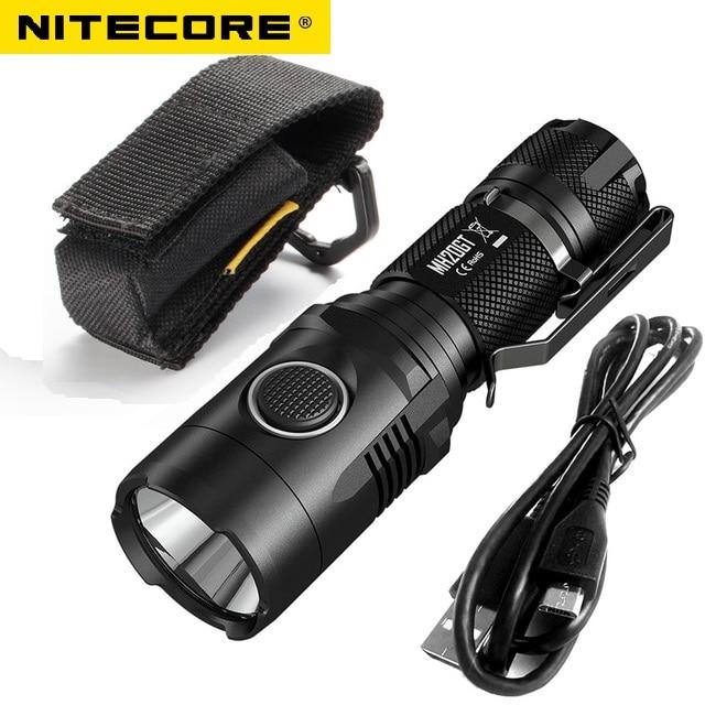 NITECORE MH20GT Rechargeable 7 Modes 1000LMs XP-L HI V3 LED Lamp Waterproof Flashlight 18650 Battery nitecore ec21 waterproof 460lm 7 modes xp g2 r5 led light lamp 18650 cr123 torch flashlight not battery