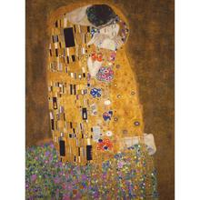 Фигурка ручной росписи картина маслом Репродукция картины Густава Климта поцелуй холст искусство для спальни настенное уркашение для гостинной