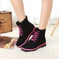 Moda Calientes de la Nieve Botas calzado mujer Botas de Invierno Las Mujeres sapato feminino Botas Botas de Tobillo de Mujer Zapatos de Plataforma de Color Caramelo