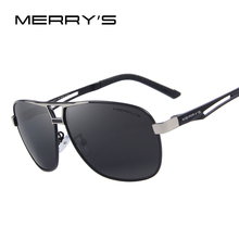 MERRY'S Classic Brand Sunglasses Men HD Polarized Rectangle Sunglasses Aluminum Men's Mirror Male Driving Sun Glasses S'8758