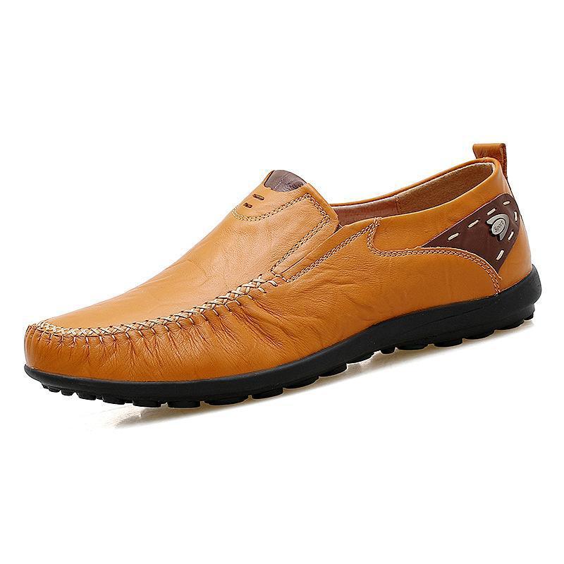 jaune En Couche Nouvelle marron Un De Cuir Hommes Lecteur Loisirs Bean Homme Pied Supérieure ChaussuresNoir Chaussures Soja La J35TKuFl1c