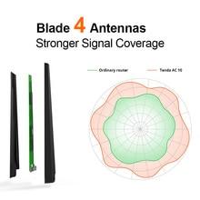 Tenda AC10 1200Mbps Wireless Wifi Router Dual band 2.4G/5G 1 WAN+3 LAN Gigabit Port 802.11AC 1GHz CPU 128 DDR3 Smart App Manage