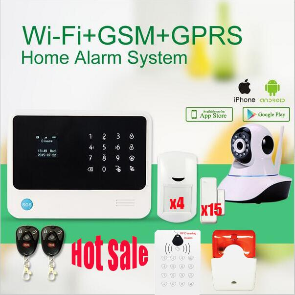 G90B WIFI alarm system,RFID,GSM+GPRS+SMS Smart wifi home security gsm home wifi alarm system work with IP camera цена и фото