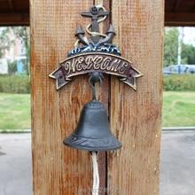 Cast Iron Bell  Welcome Entry Door Antique Doorbell Decoration Front Interior Exterior decor