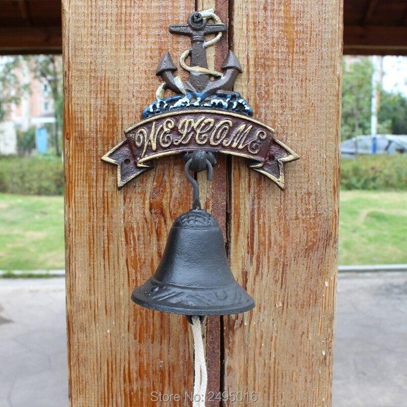 Cast Iron Bell Welcome Entry Door Bell Antique Doorbell Decoration Front Door Interior Exterior decor