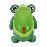 2017 New Urinal For Boys Plastic Cartoon Frog Baby Potties Children Kid Protable Training Toilet Seat