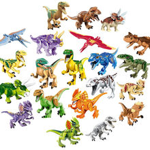 2019 New Dinosaur Kids Juguetes Compatible Bricks Toys Legoingly Building Blocks Dinosaurs Jurassic Park World For Children Gift(China)