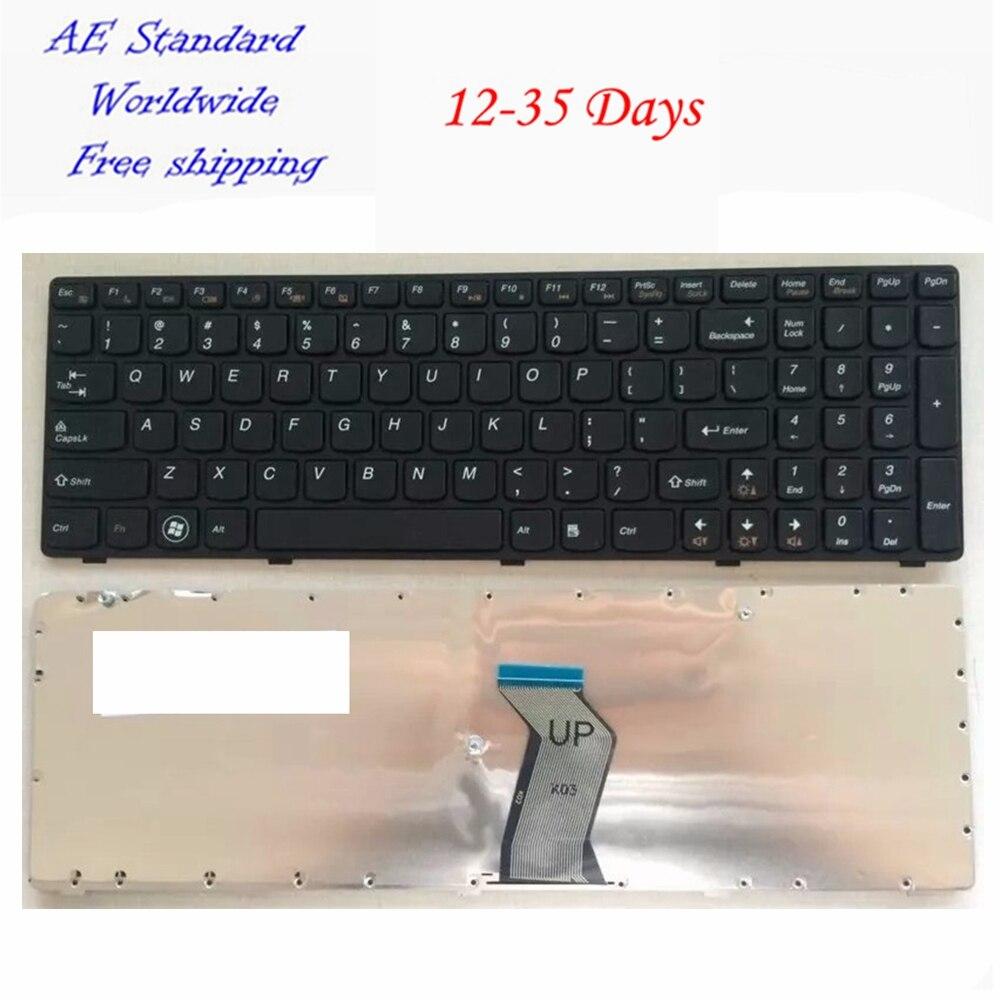 US Black New English Laptop Keyboard For Lenovo Y500 Y510P Y500N Y500NT