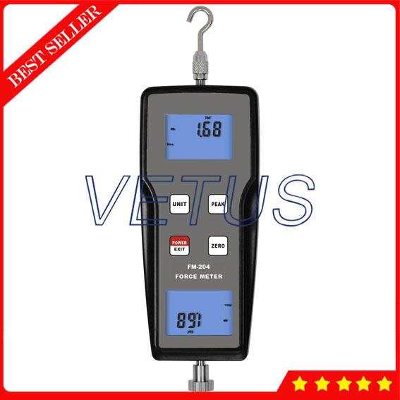 FM-204 Digital Digital Push Pull Force Gauge Tester Meter with Dynamometer Force Measuring Instruments  3n digital portable push pull force gauge dynamometer force tester