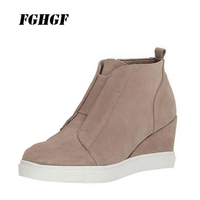 New winter fashion leisure tourism Women's shoes movement style The increased work personalized Female boots