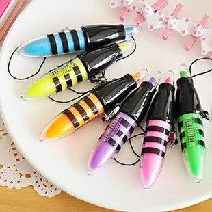 Smart Free Shipping 10pcs/lot Creative Tizo Series Bee Miniature Fluorescent Pen Multi-color Optional Portable Nite Writer Pen Sale Price