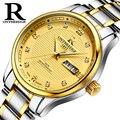 OnTheEdge Casual Quarz herren Uhr Luxus Gold Business Mann Uhren Mode Edelstahl Wasserdichte Männliche Uhr-in Quarz-Uhren aus Uhren bei