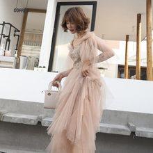 Аппликации блёстками банкетное платье Сетчатое платье с открытыми плечами длинное платье Сексуальные вечерние платья Vestidos S-2XL