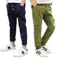 Primavera 2018 de los bebés pantalones adolescentes pantalones para niños pantalones de algodón casual pantalones largos niños Deporte Pantalones 10 años
