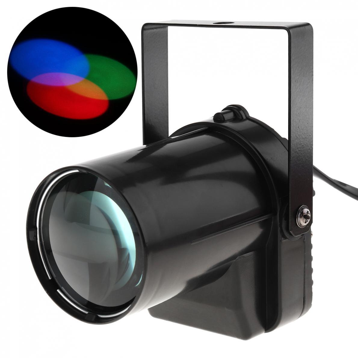 3W LED Spotlight Stage Lighting Effect RGB Beam Pinspot Light Full Color Lamp For DJ Disco / KTV / Bar / Party