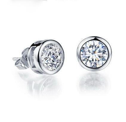 Shiny Gem Stud Earrings For S Boys Inlaid Aaa Bright Zircon Earring 2 Colors Choice In From Jewelry Accessories On Aliexpress