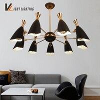 Скандинавский стиль винтажная лампа negra Лофт Abajour Avize промышленная лампа Lustres De Teto лампы оттенки люстра подвесной светильник