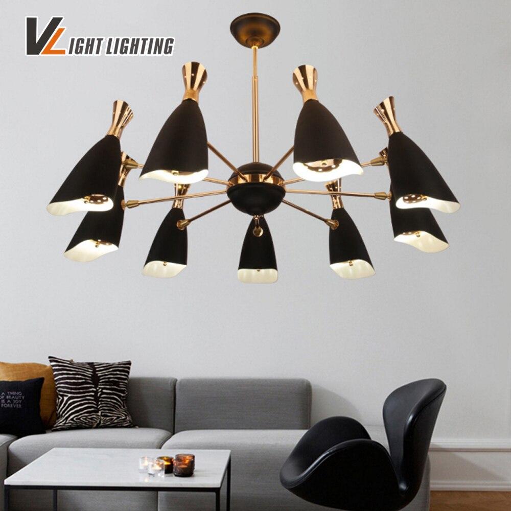 Nordic Style Vintage Lamp Negra Loft Abajour Avize Industrial Lamp  -> Abajour Para Sala De Jantar