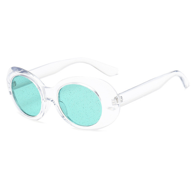 be640be542f Kaleidoscope Glasses Clout Goggles Sunglasses Vintage NIRVANA Kurt Cobain  Sun Glasses Women Clear Color Small Oval Glasses