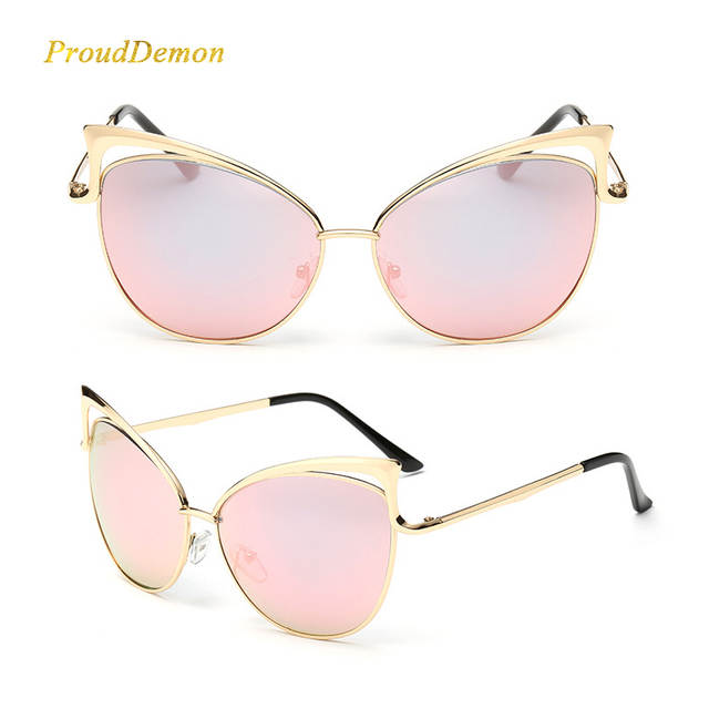 854876a8e05cf placeholder Nova Moda Olho de Gato de luxo 2018 Óculos De Sol Das Mulheres  Designer De Marca