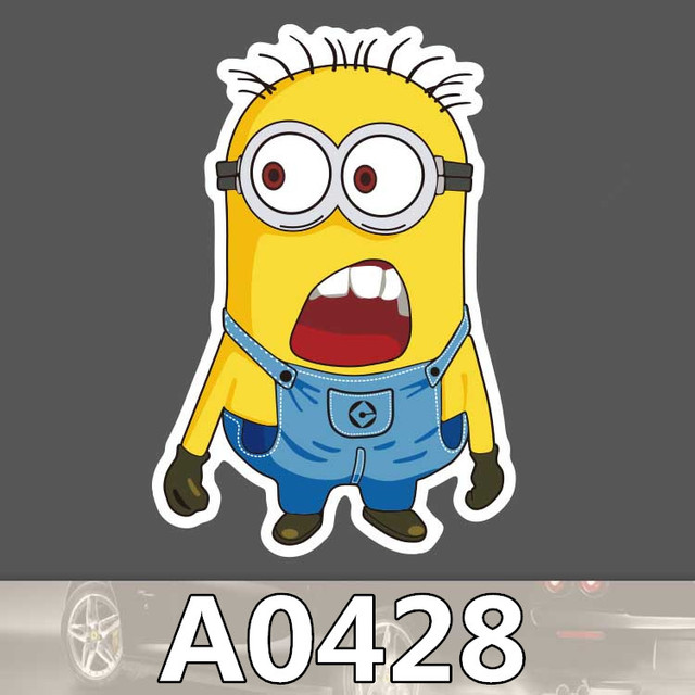 Bevle A Despicable Me Minions Car Styling Waterproof Sticker For Cars Laptop Luggage Skateboard Graffiti Notebook