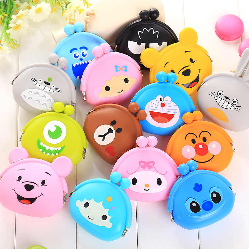 New Fashion Lovely Kawaii Candy Color Cartoon Animal Women Girls Wallet Multicolor Jelly Silicone Coin Bag Purse Kid Gift