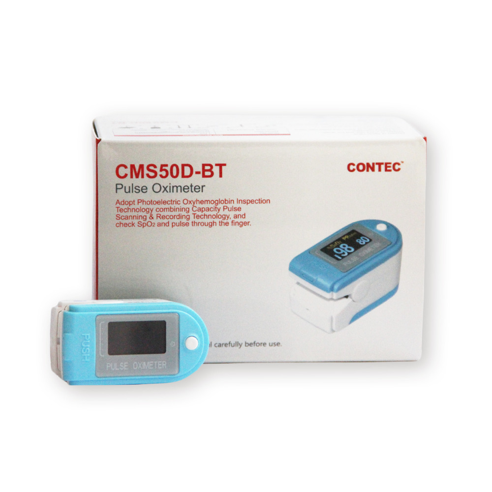 Free Shipping Bluetooth Fingertip Pulse Oximeter SpO2 Blood Oxygen Monitor CMS50D-BT Free Rubber Case CONTEC