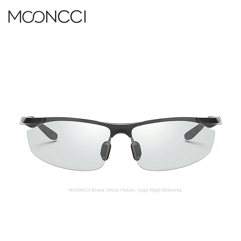 MOONCCI 2018 Photochromic Sunglasses Men Polarized Driving HD Chameleon Sun Glasses for Man Aluminum Anti-glare Goggles Eyewear