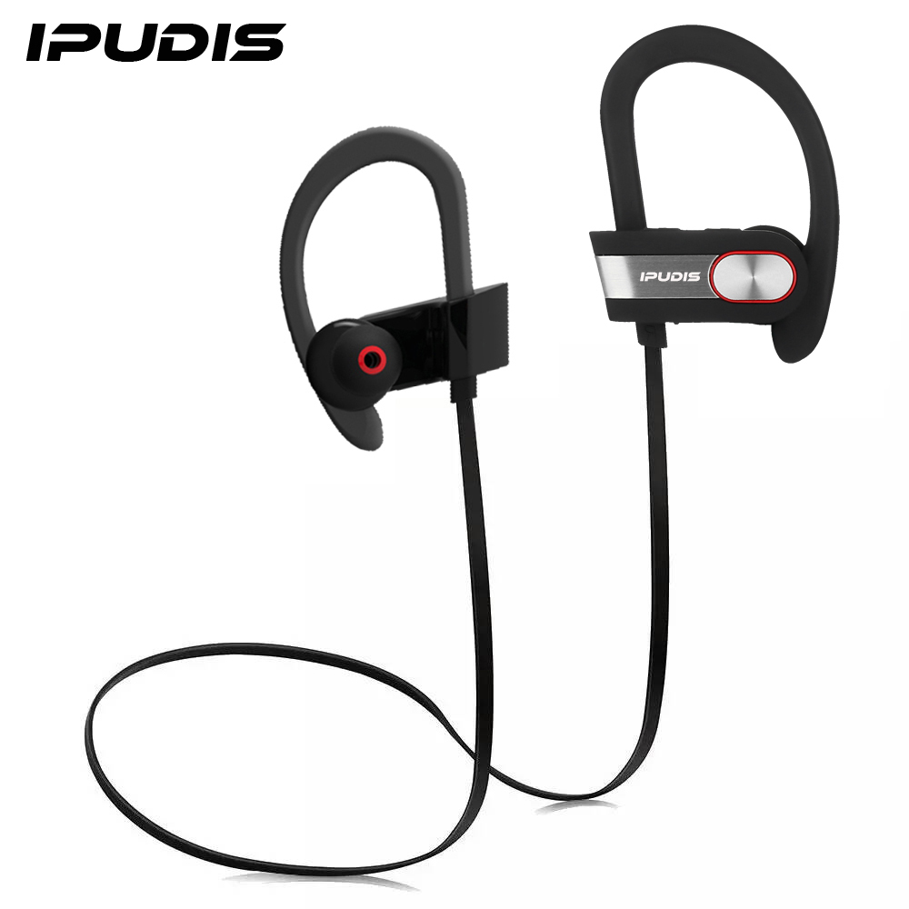ipudis sports light bluetooth earphone ear hook wireless earbuds stereo v4 1 portable headset. Black Bedroom Furniture Sets. Home Design Ideas
