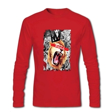 Slim Fit Long Sleeve O-Neck 100 % Cotton Boss Cat Men T Shirt Top Cheap Price Men's T Shirt