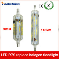 Silicone R7S LED Lamparas AC 220V 240V Corn Lamp 78mm 118mm Light SMD 3014 Bulb 10W