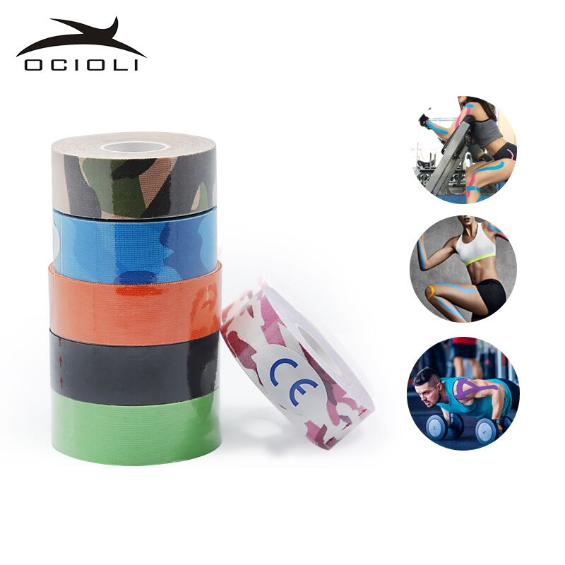 Elastic Kinesiology Tape 2.5 Meter Sports Roll Physio Muscle Strain Injury Sport Wrist Support 5M Kinesio Tape