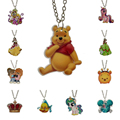"Fashion Girls Kids Gift Jewelry Little Horse Fish Bear Princess Pendant 16"" Short Chain Necklace Free Shipping KS183"