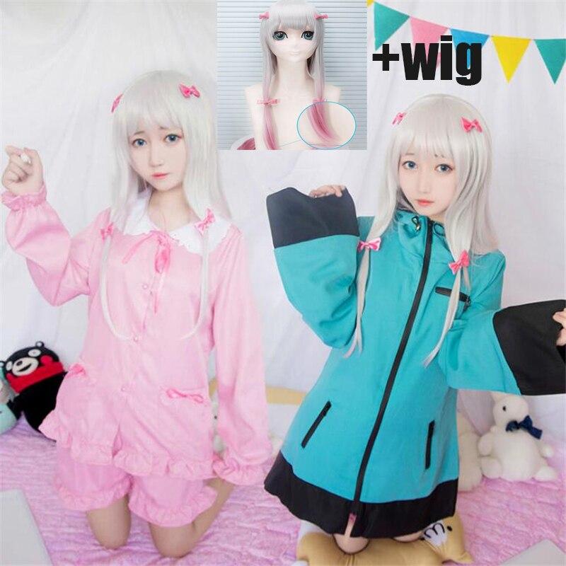Anime Izumi Sagiri Uniform Cosplay Halloween Costume EROMANGA SENSEI High Quality Pajama Set And Wig Free Shipping