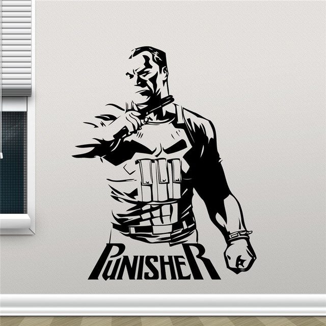 Punisher Vinyl Decal Marvel Superhero Wall Sticker Video Game Gaming Wall Decor Cool Art Kids Room & Punisher Vinyl Decal Marvel Superhero Wall Sticker Video Game Gaming ...