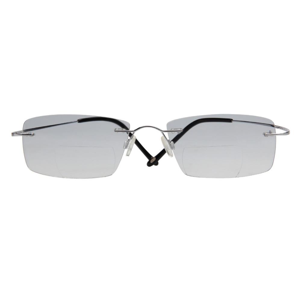 LianSan Mode Vintage Titanium Rimless Kacamata Baca Bifocal Wanita - Aksesori pakaian - Foto 2