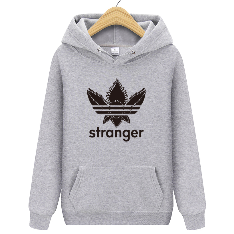 Autumn 2018 new women/mens casual players Stranger Things print hedging hooded fleece sweatshirt hoodies pullover