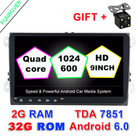 9 Android 6 0 2 Din Car Radio Dvd Gps Multimedia Dvd Headunit Player 2g Ram