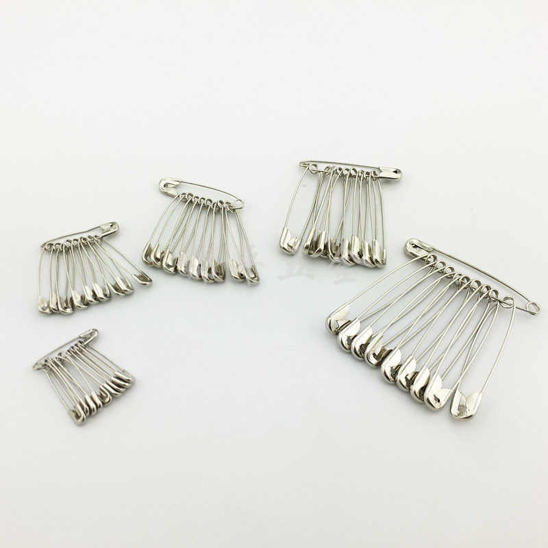 100 Pcs Perak Nada Safety Pins DIY Alat Alat Jahit Aksesori Stainless Steel Jarum Pin Bros Aksesoris Pakaian