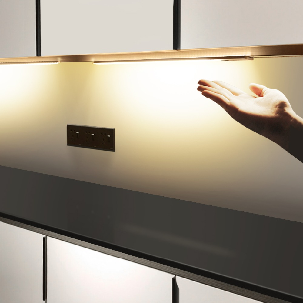 Hand Wave Control Kitchen Lights LED Bar Light Closet Wardrobe Bar LED Lamp 30/50cm Motion Sensor Hand Scan Sweep Kitchen Lights