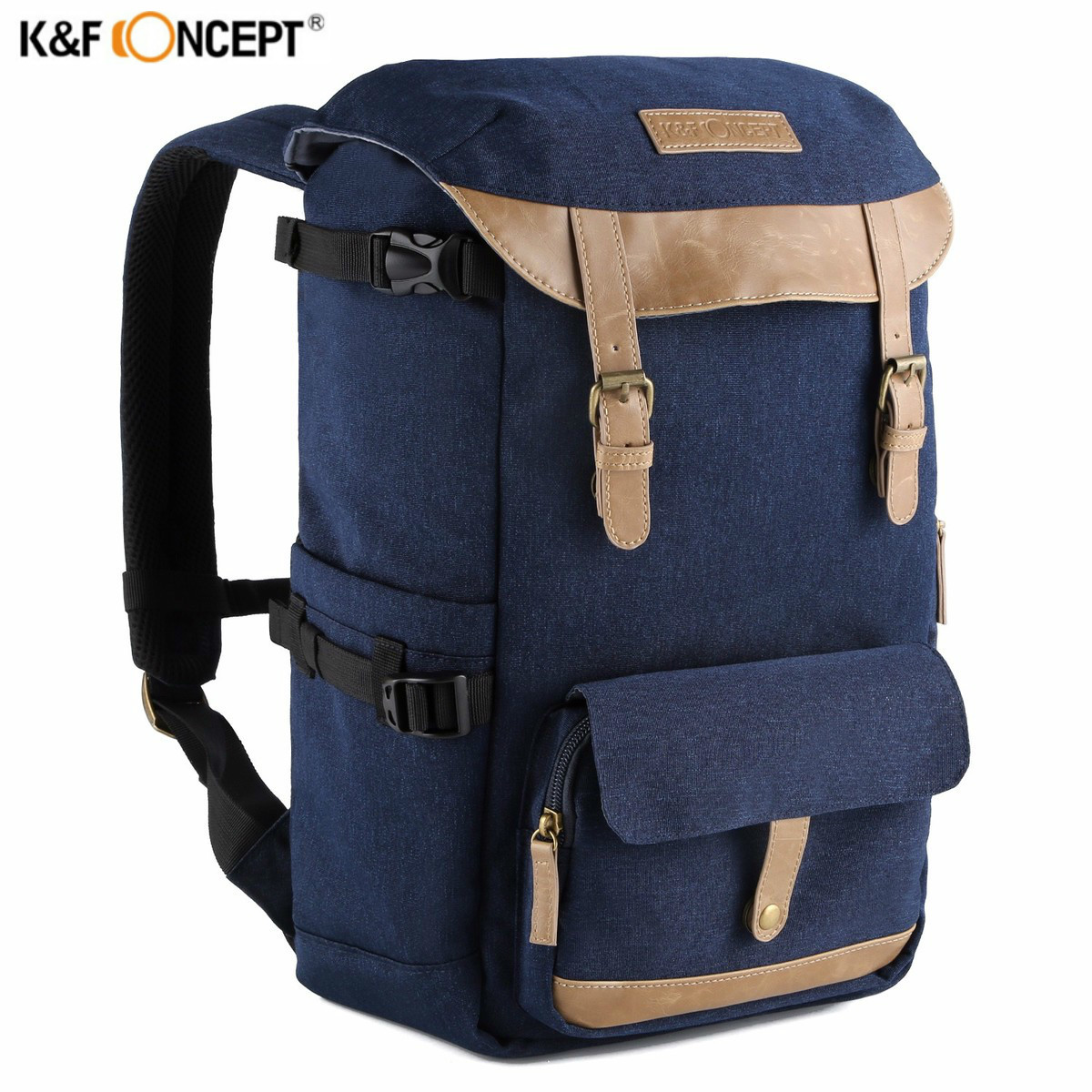 K&F CONCEPT Multifunctional Camera Backpack Fashionable Photo/Video Bag Case With Large Capacity For Canon Nikon SLR DSLR Camera jealiot multifunctional professional camera shoulder bag waterproof shockproof big digital video photo bag case for dslr canon